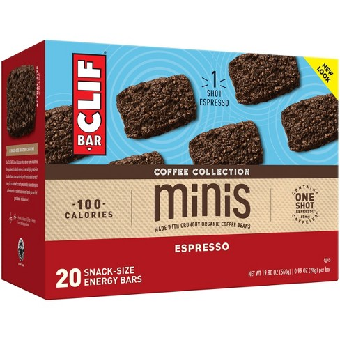 CLIF Bar Coffee Collection Espresso Energy Bar Minis - 19.8OZ/20ct - image 1 of 4