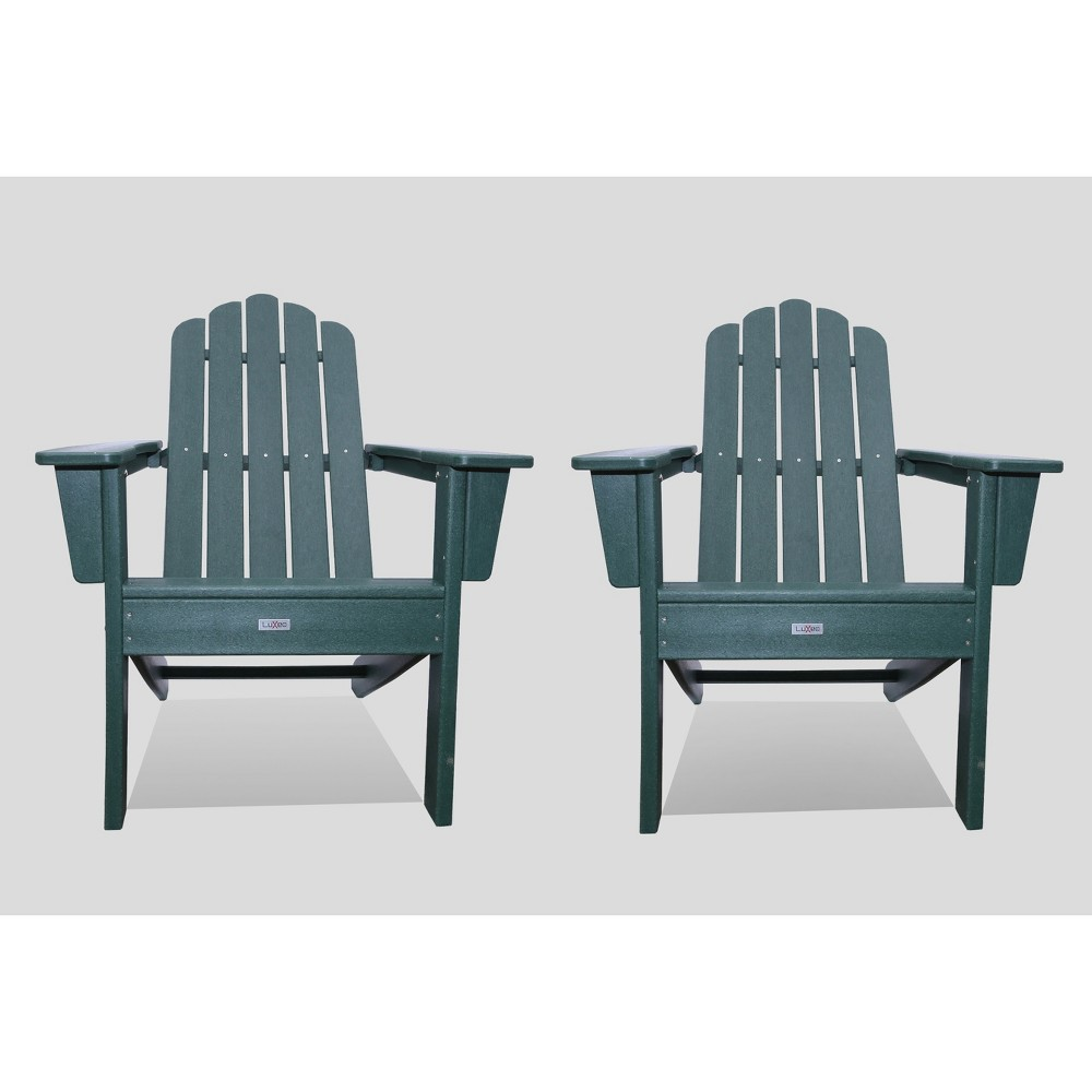 Image of Marina 2pk Outdoor Patio Adirondack Chair Green - LuXeo
