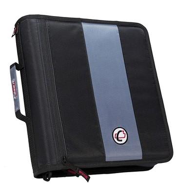 Case It Case-it Classic 2 3-Ring Zipper Binder, Black D-251