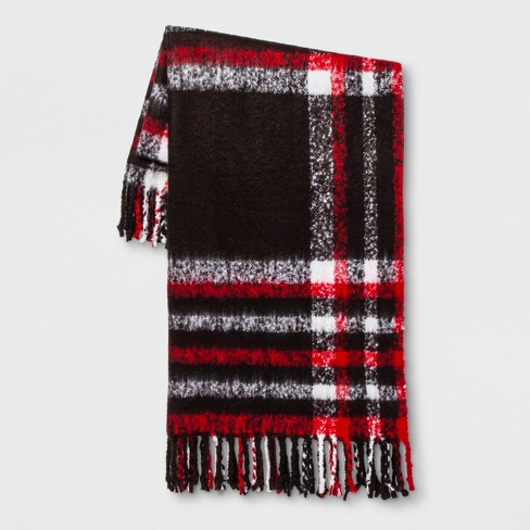 Plaid Throw Blanket Black/Red - Threshold™ - image 1 of 1