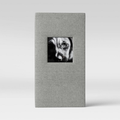 "4"" x 6"" Album with Frame Front Weld Binding Gray 3 Per Page - Threshold™"