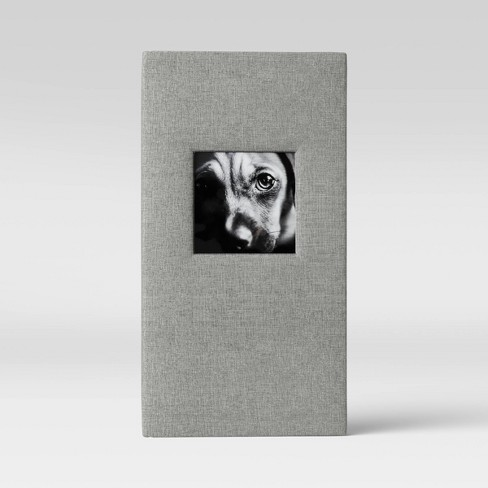"""4"""" x 6"""" Album with Frame Front Weld Binding Gray 3 Per Page - Threshold™ - image 1 of 3"""