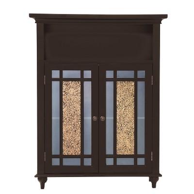 Windsor Double Door Floor Cabinet Dark Espresso Brown - Elegant Home Fashions
