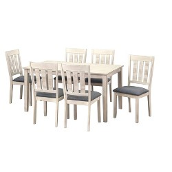 7pc Olin Dining Set White - Buylateral