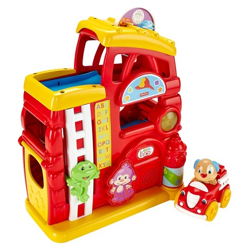 Laugh & Learn Monkey's Smart Stages Firehouse Toy Vehicle Playsets - image 1 of 11