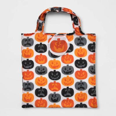 Reusable Bag with Pouch Halloween Pumpkin Trick or Treat Container - Hyde & EEK! Boutique™