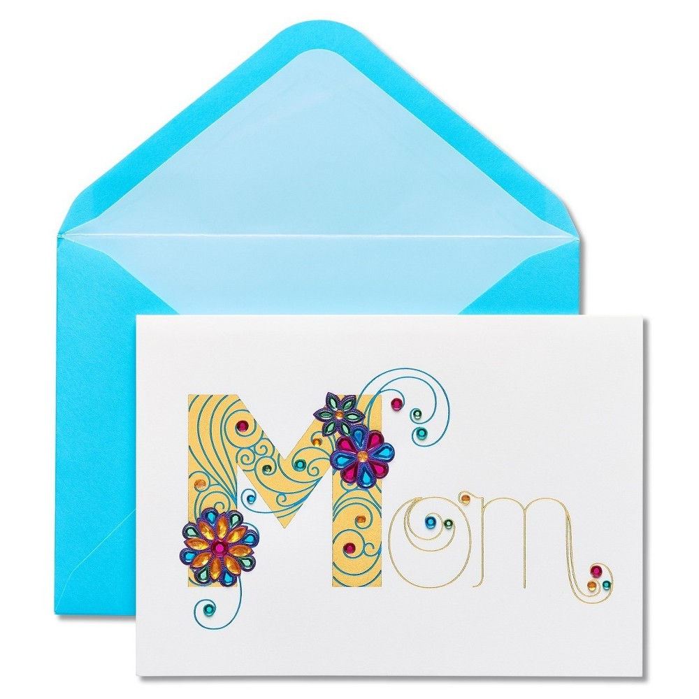Papyrus Swirl Mother's Day Card with Rhinestones, Multi-Colored