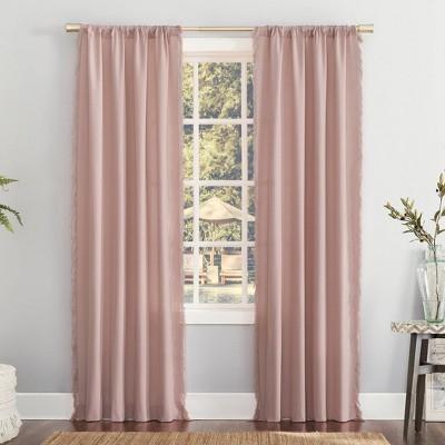 Ruthie Frayed Edge Semi-Sheer Rod Pocket Curtain Panel - No. 918