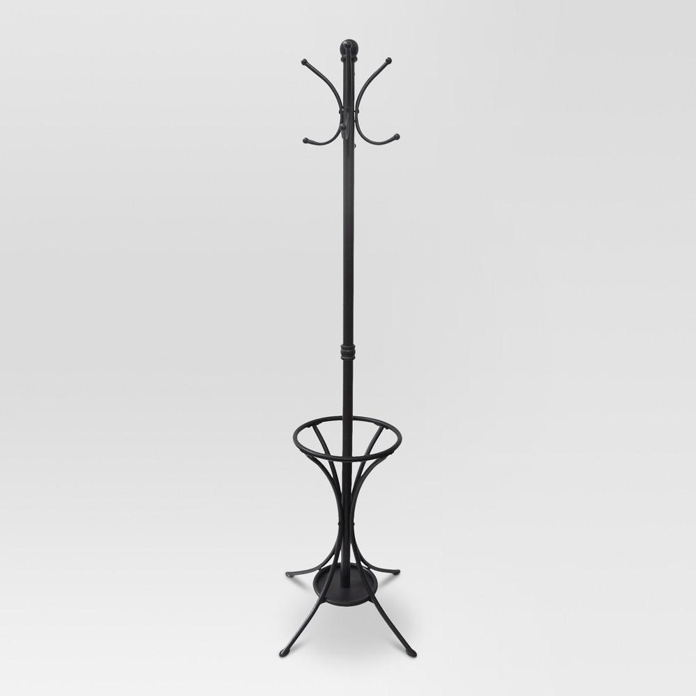 Coat Rack with Umbrella Stand Metal - Threshold, Bronze
