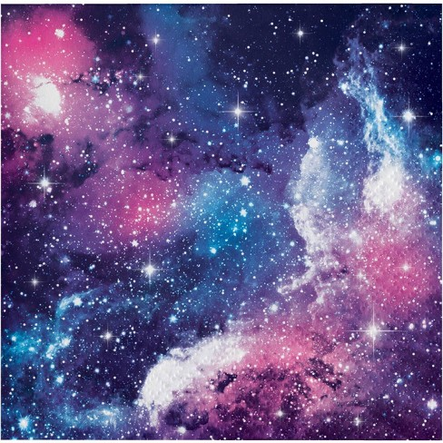 48ct Galaxy Print Disposable Beverage Napkins - image 1 of 1
