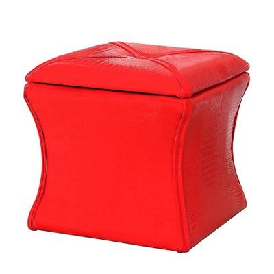"Storage Ottoman 17.5"" - Red - Ore International"
