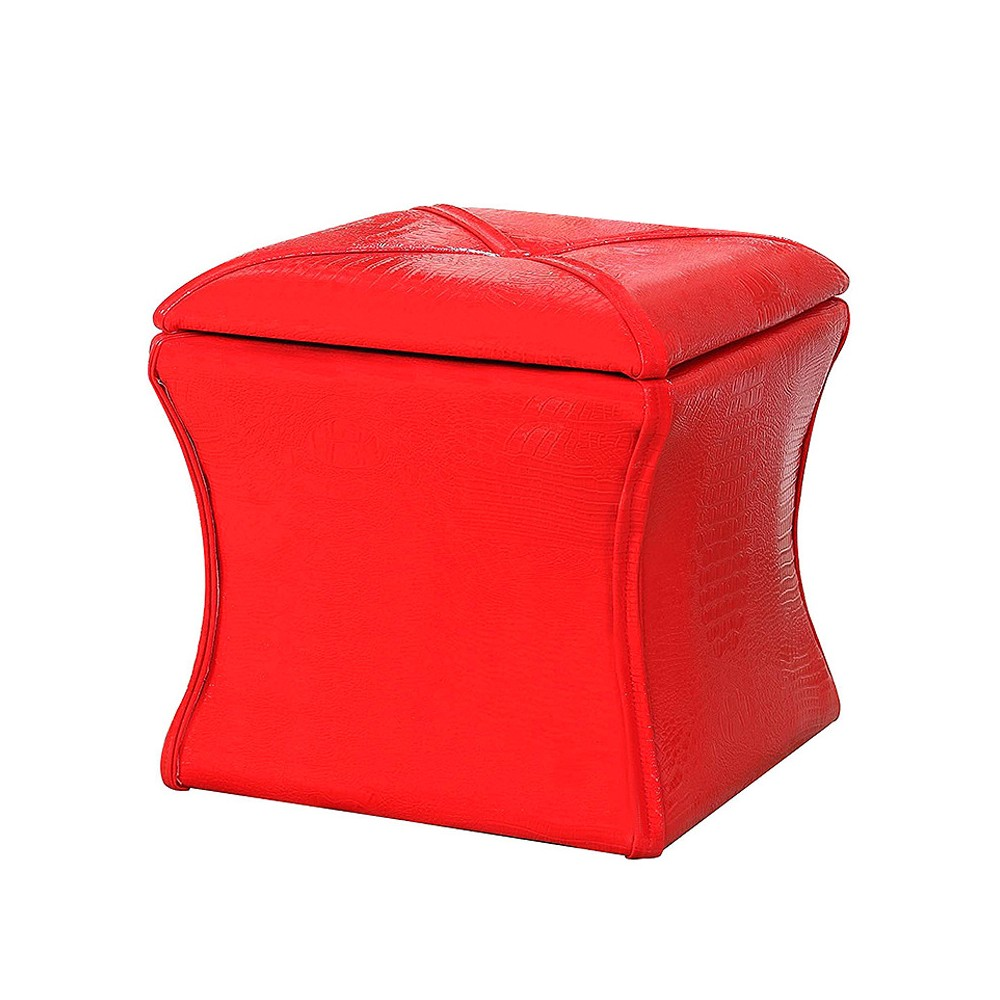 "Image of ""Storage Ottoman 17.5"""" - Red - Ore International"""