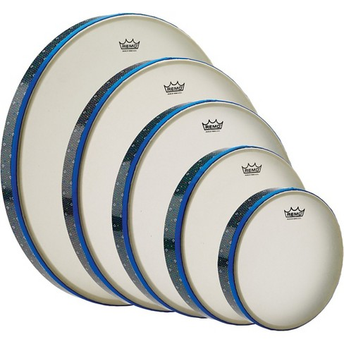 """Remo Thinline Frame Drum Full Set - 8"""", 10"""", 12"""", 14"""", 16"""" Thumbs up - image 1 of 1"""