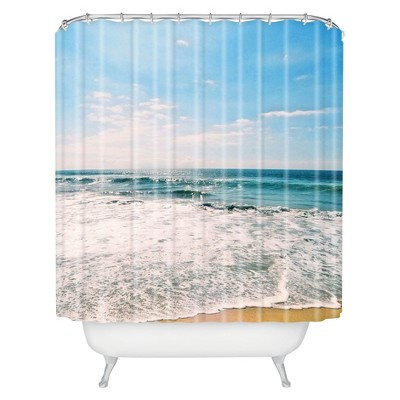 Take Me There Shower Curtain Blue - Deny Designs®