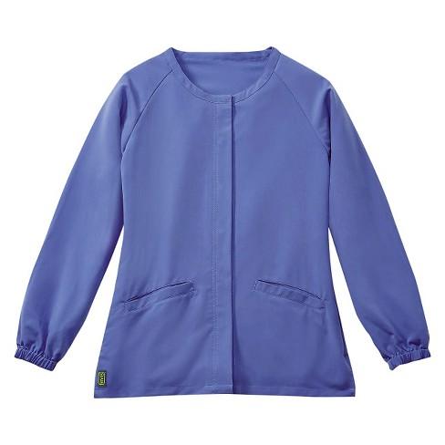 Addison Ave 174 Scrub Jacket Ceil Blue 2xl Target