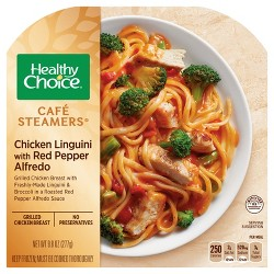 Healthy Choice Cafe Steamers Frozen Chicken Linguini Red Pepper Alfredo - 10.3oz