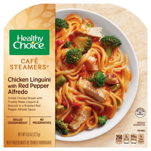 Healthy Choice Cafe Steamers Frozen Chicken Linguini Red Pepper Alfredo - 10.3oz - image 1 of 1