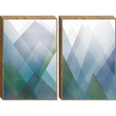 Modern Mountains 2pc Framed Wall Canvas 27 X 39 X 5 - Project 62™