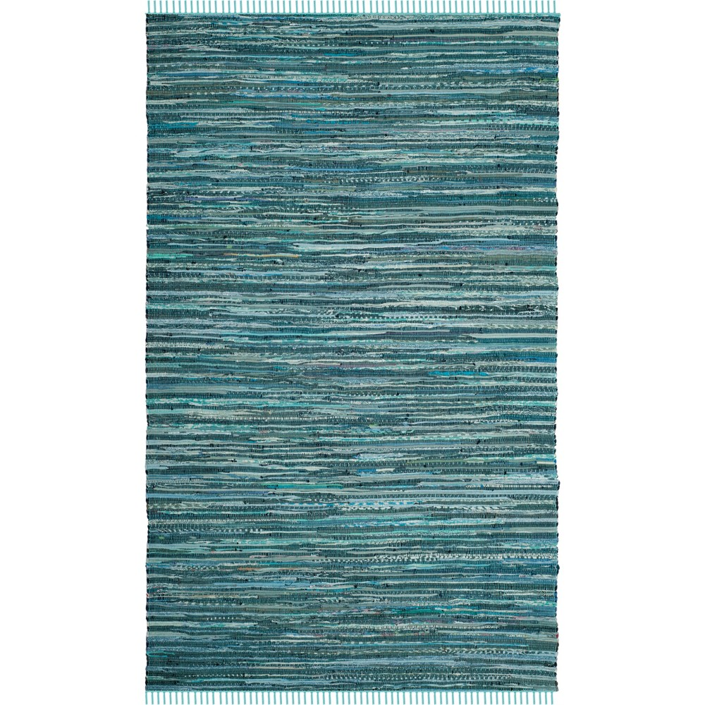 6'X9' Spacedye Design Woven Area Rug Turquoise - Safavieh, Turquoise/Multi-Colored