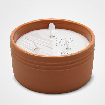 Fresh Sea Salt Scent 3 Wick Candle Terracotta - Project 62™
