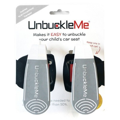 UnbuckleMe Car Seat Buckle Release Tool - Gray/White 2pk