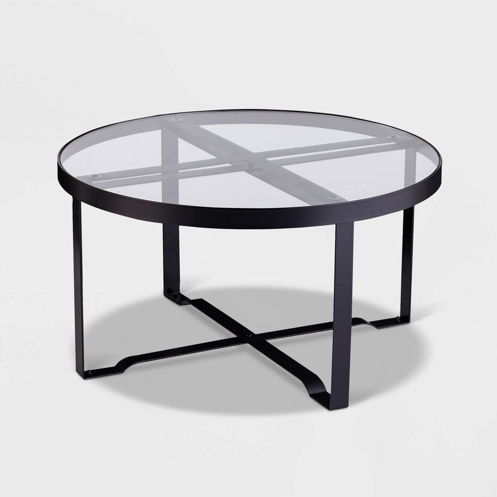 Image of Dofney 2pk Patio Table Collection - Black - Aiden Lane
