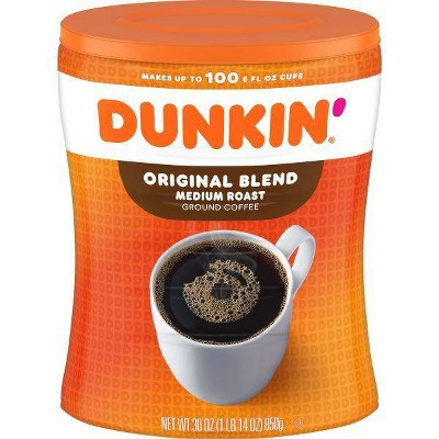 Dunkin' Donuts Original Medium Roast Coffee Canister - 30oz