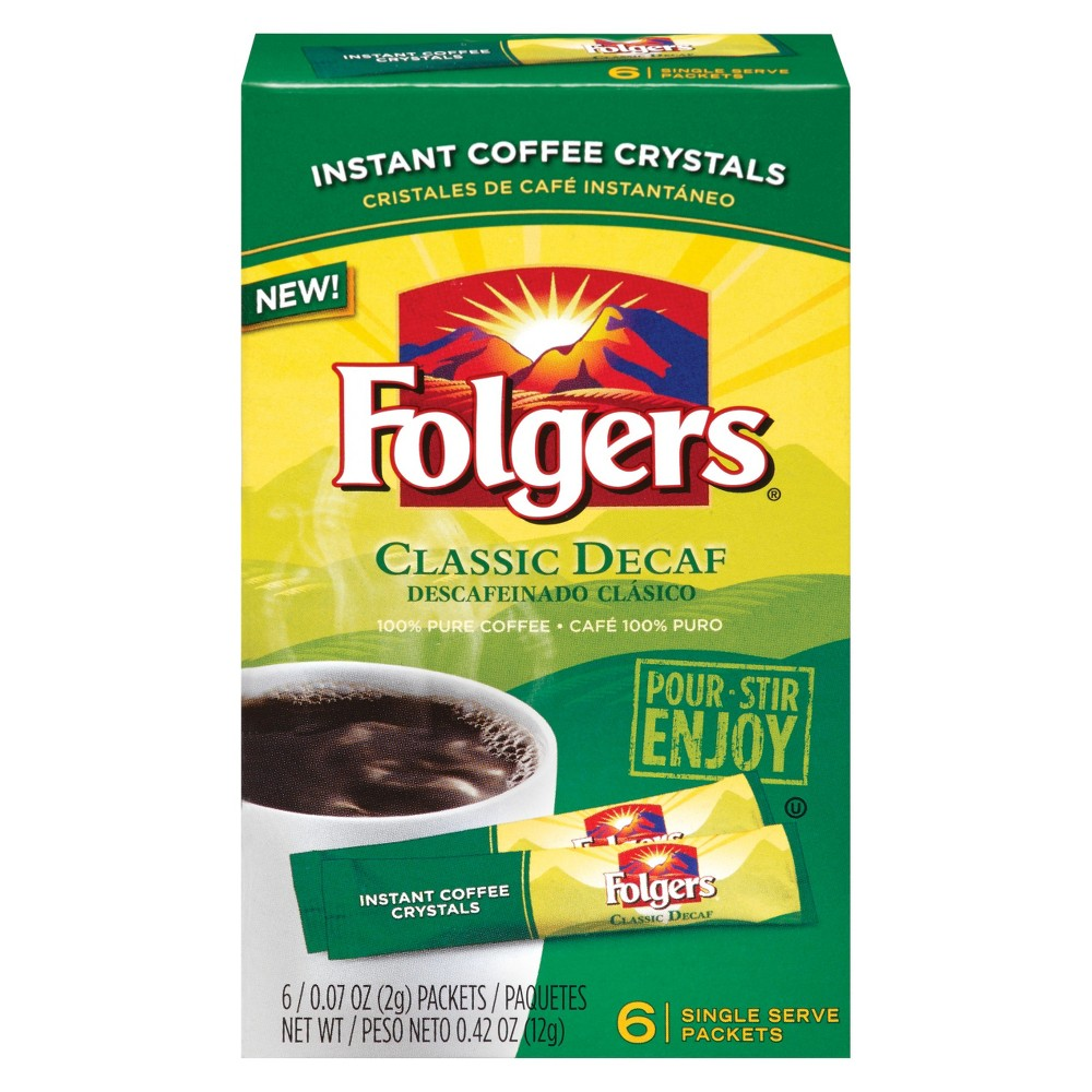 Folgers Classic Decaf Instant Coffee - 6ct