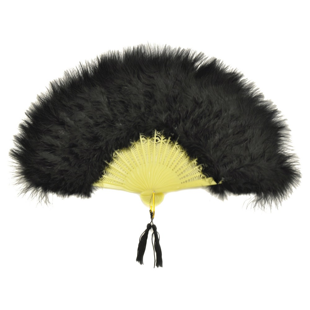 1920s Swimsuits- Women & Mens- History, Sew and Shop Fan Marabou Feather Womens Black $18.50 AT vintagedancer.com