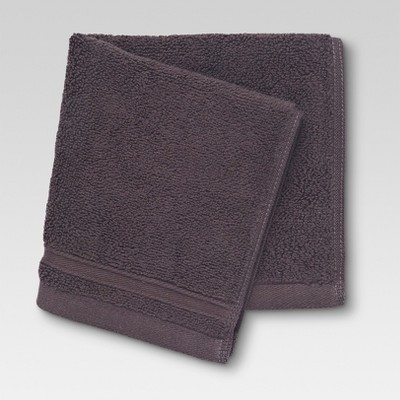 Performance Solid Texture Washcloth Dark Brown - Threshold™