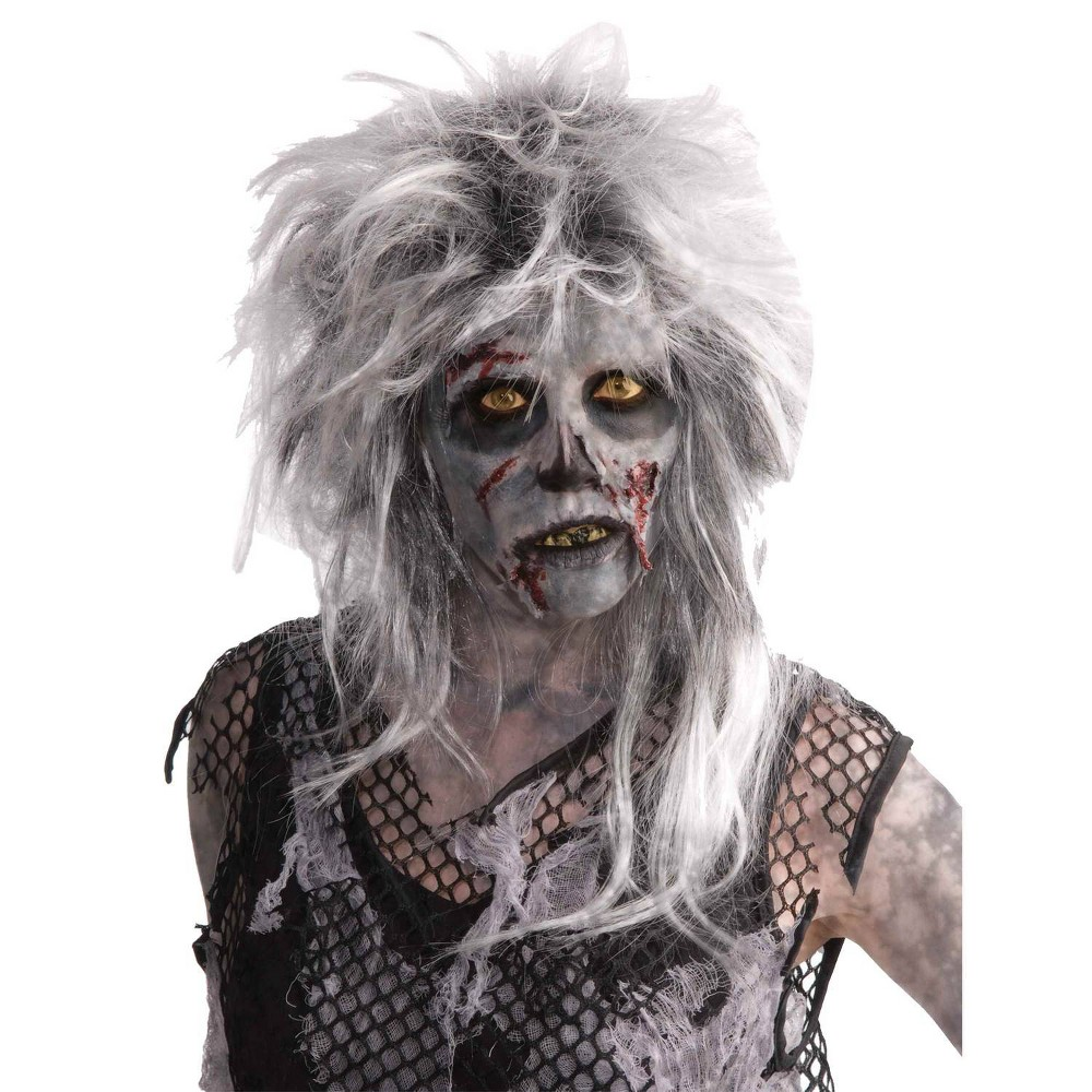 Image of Halloween Costume Wig Zombie Wild Light Gray - One Size, Adult Unisex