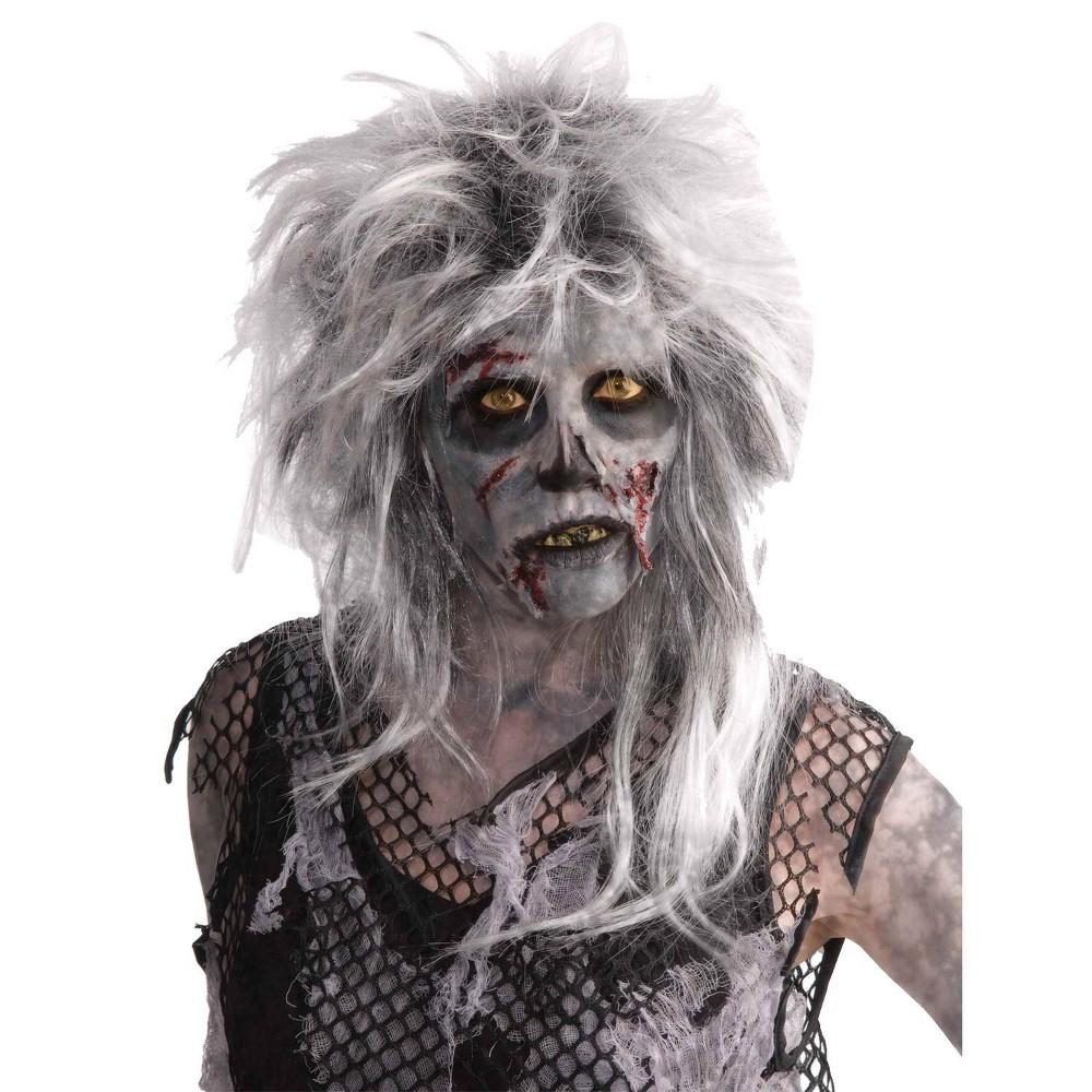Image of Halloween Costume Wig Zombie Wild Light Gray - One Size, Adult Unisex