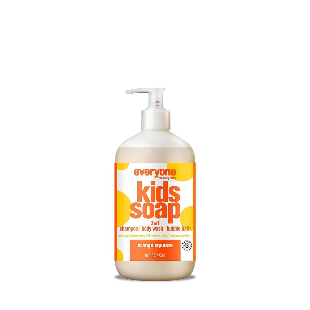 Image of Everyone Kids Orange Squeeze 3-in-1 Soap - 16 fl oz