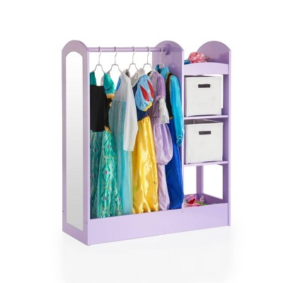"""42"""" Kids' See and Store Dress Up Storage Center Lavender - Guidecraft"""