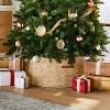 "29"" Christmas Woven Tree Skirt Natural - Threshold™ designed with Studio McGee - image 2 of 4"