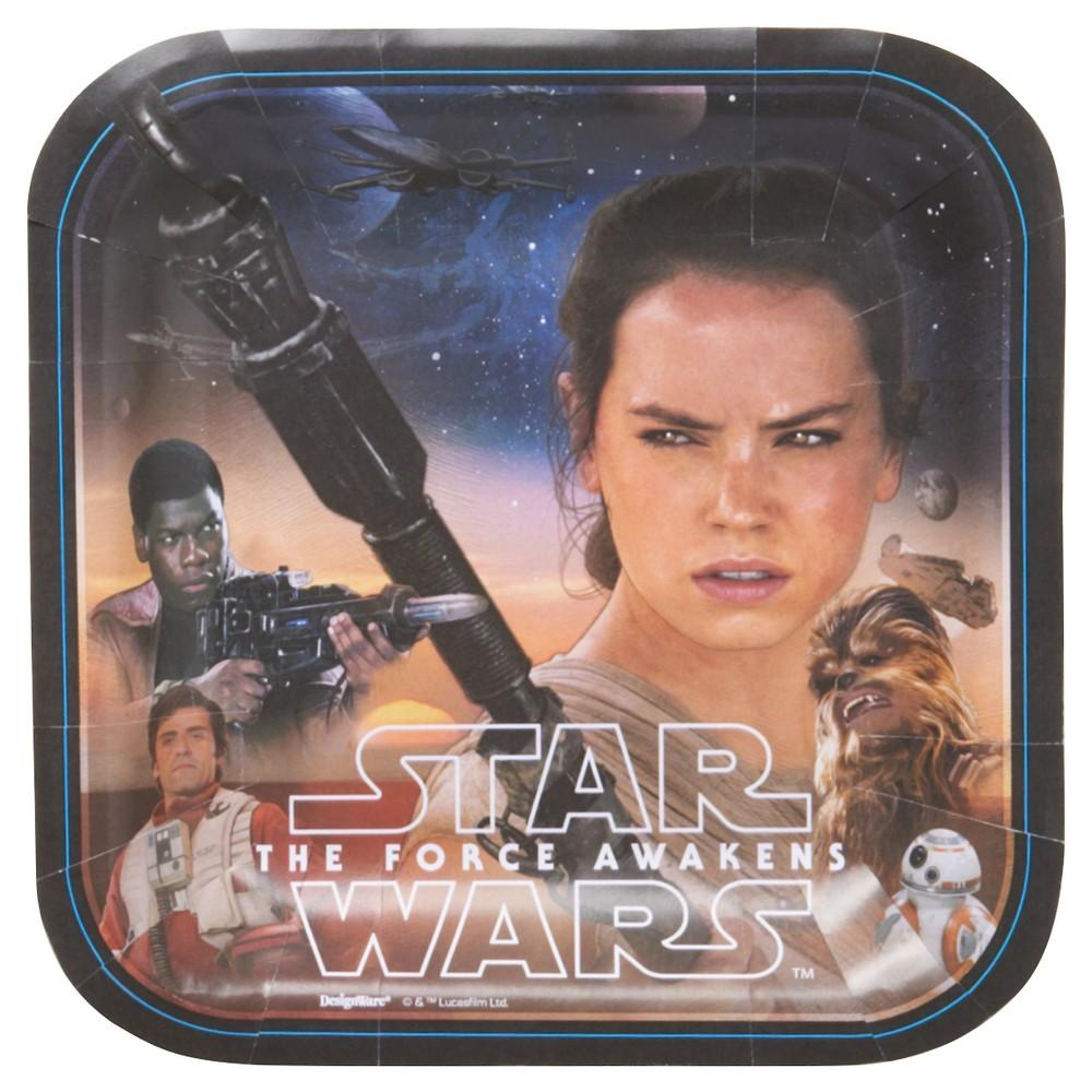 8 ct Star Wars Episode Vii Snack Plate