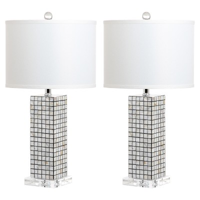 "(Set of 2)25.5"" Skagway Table Lamp Black/Cream - Safavieh"