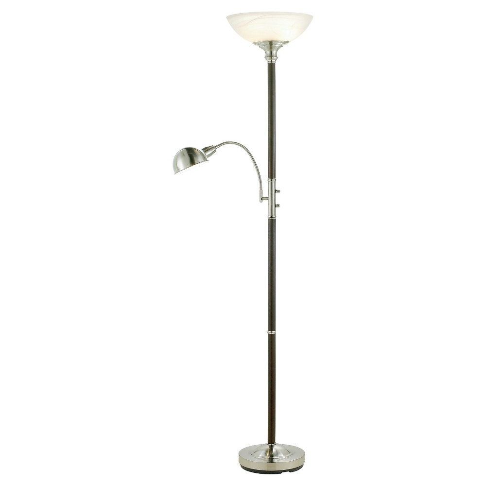 Image of Adesso Lexington Combo Floor Lamp (Lamp Only) - Black