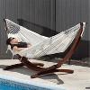 Vivere 8ft Double Cotton Hammock with Solid Pine Arc Stand - image 3 of 4