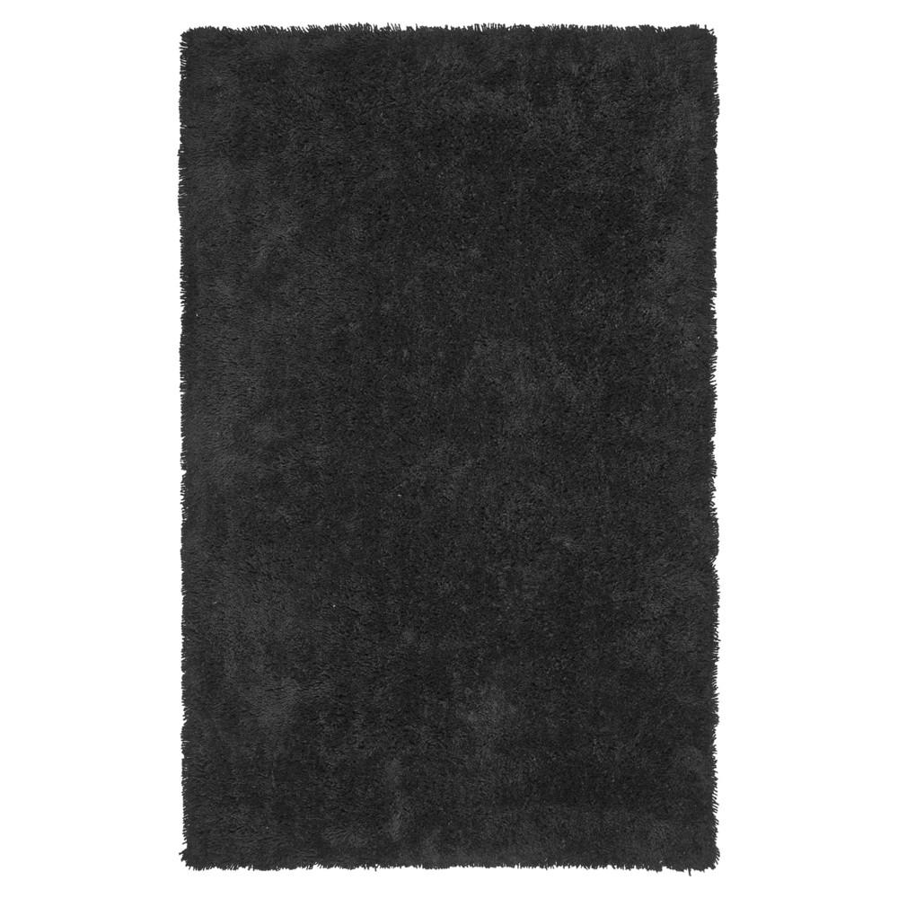 Black Solid Tufted Area Rug - (7'6