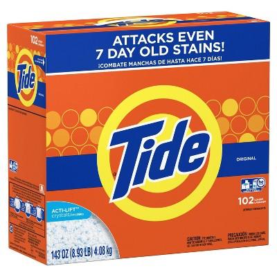 Tide HE Turbo Original Powder Laundry Detergent - 143 oz 102 Loads