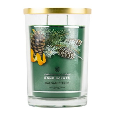 19oz Glass Jar 2-Wick Candle Balsam Citrus - Home scents By Chesapeake Bay Candle