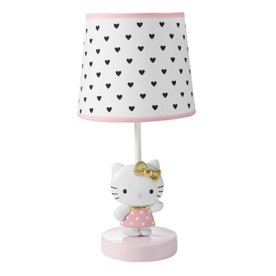 Bedtime Originals Hello Kitty Luv Lamp with Shade & Bulb