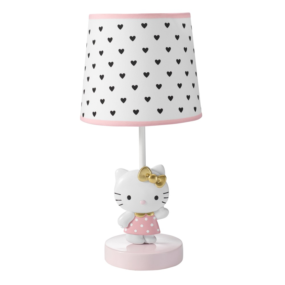 Image of Bedtime Originals Hello Kitty Luv Lamp with Shade & Bulb