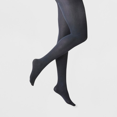 Women's 50D Opaque Tights - A New Day™ Navy - image 1 of 2