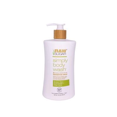 Raw Sugar Green Tea + Cucumber + Aloe Vera Sensitive Skin Simply Body Wash - 40 fl oz