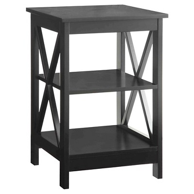 Oxford End Table - Black - Convenience Concepts