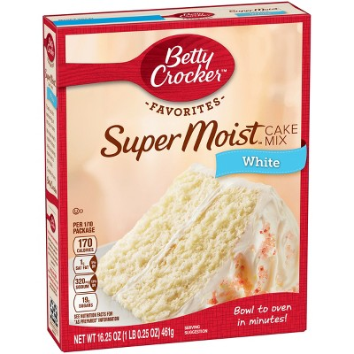 Baking Mixes: Betty Crocker Super Moist Favorites White Cake Mix