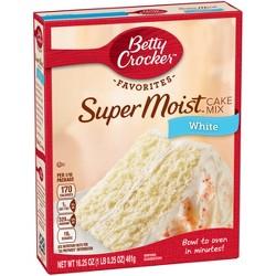Betty Crocker Super Moist White Cake Mix - 16.25oz