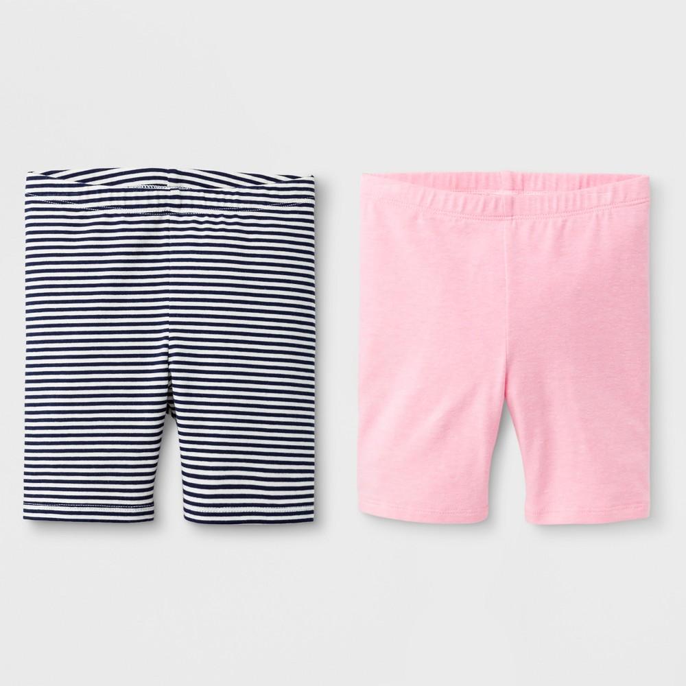 Toddler Girls' Trouser Shorts - Cat & Jack Neon Pink 12M